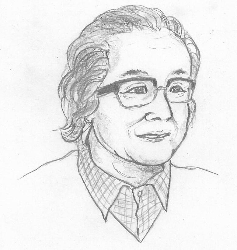 吉野弘さんの似顔絵